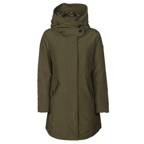 green w's long military parka