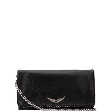 black leather rock stud bag