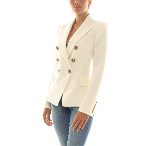 white double-breasted  jacket