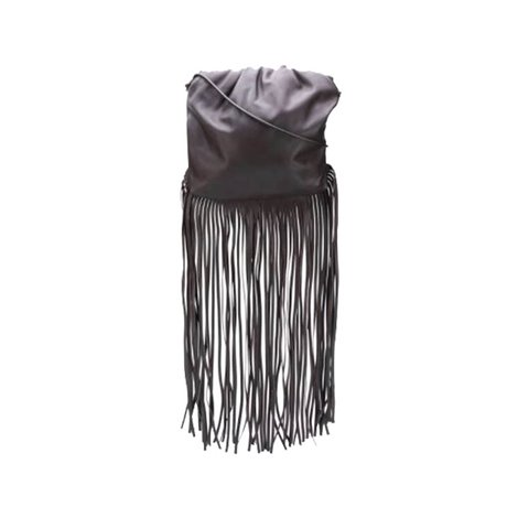 black leather the fringe pouch