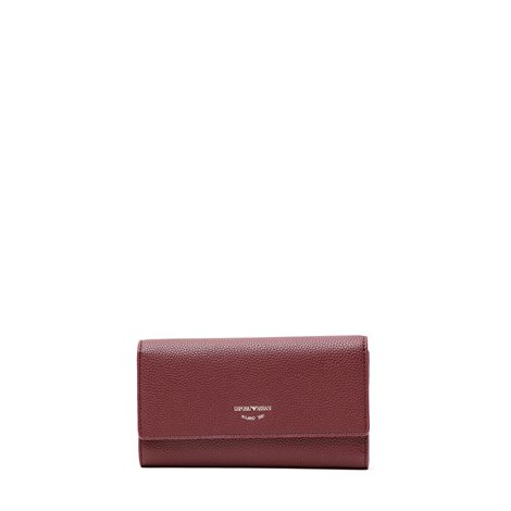 burgundy  faux leather wallet