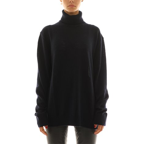 blue wool turtleneck