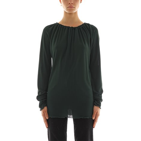 green viscose top