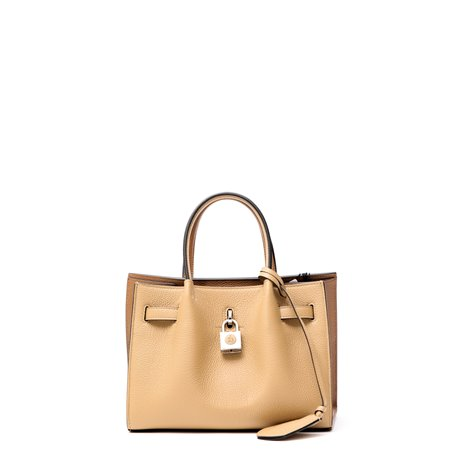 beige leather bogey small bag