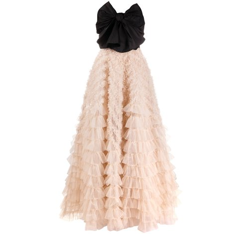 bllack and pink tulle dress