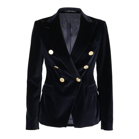 black<br/>all-over sequins<br/>peack lapels<br/>shoulders pads<br/>faux front flap pockets<br/>single-breasted fastening featuring buttons