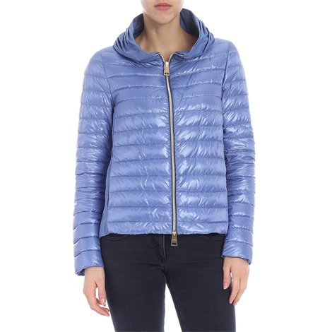 light blue quilted padded jacket