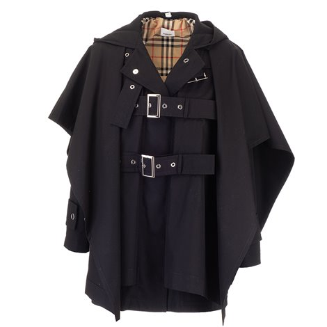 double belt black trench