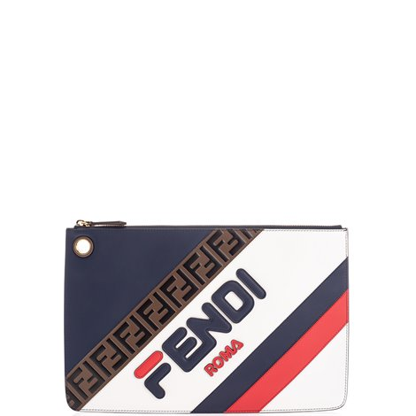 logoed clutch bag