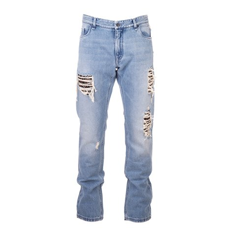 blue distrssed jeans