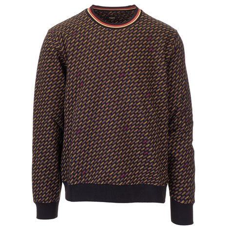 brown printed sweatshirt