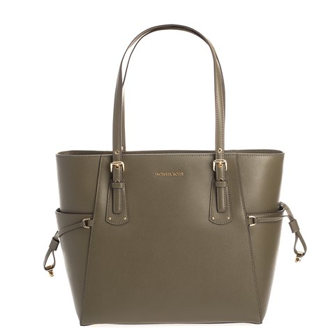 green saffiano leather jet set bag