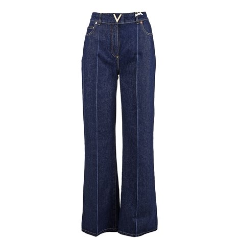 denim logoed jeans