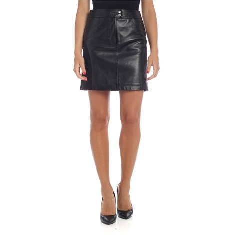 leather faux leather skirt