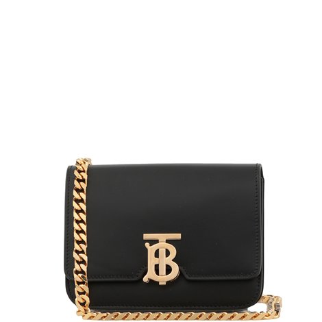 black leather beltbag