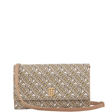 beige monogram leather pouch