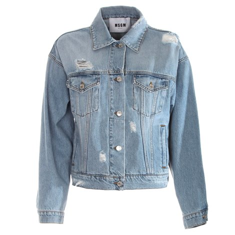 denim logoed jacket