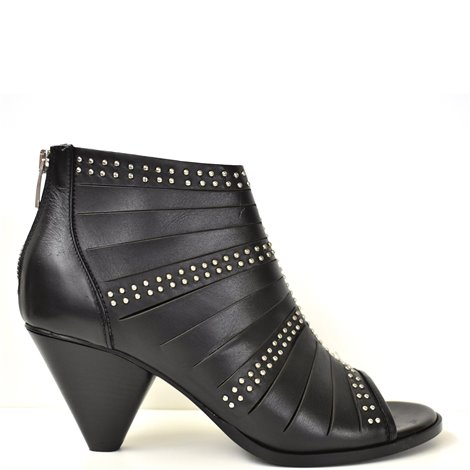 studded open toe booties