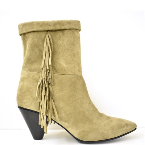 fringed suede booties