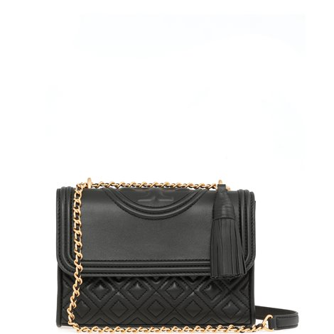 black quilted leather shoulder bag