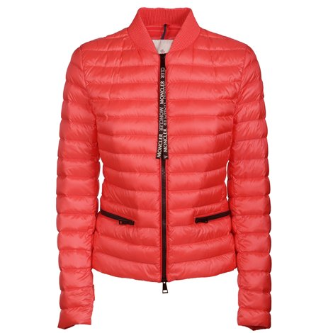 down filled red jacket
