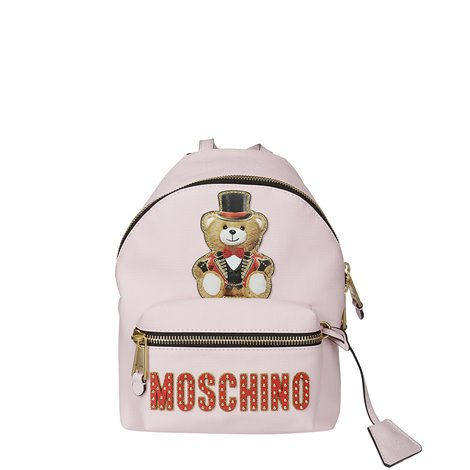 teddy circus patch pink backpack