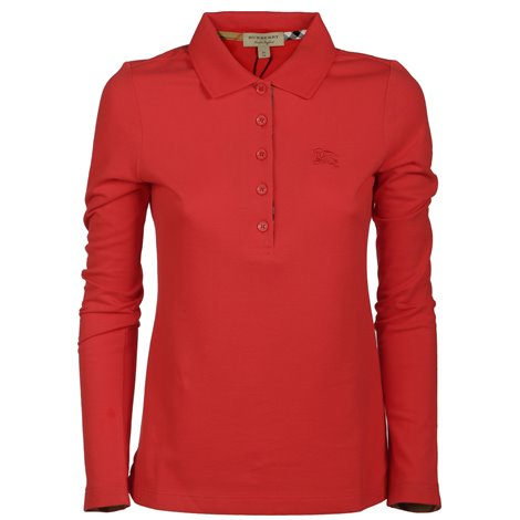 red long sleeved polo