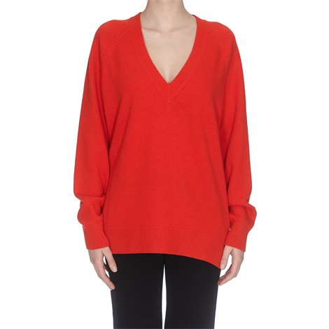 red wool and cashmere sweater