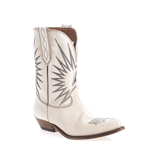 white embroidered leather boots