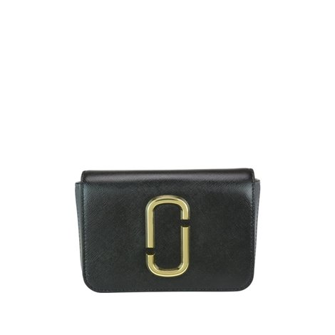 hip shot belt bag in black saffiano leather