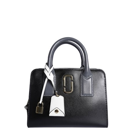 black leather little big shot handbag