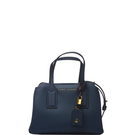 the editor crossbody bag in blue leather