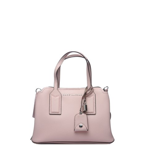 the editor crossbody bag in pink leather