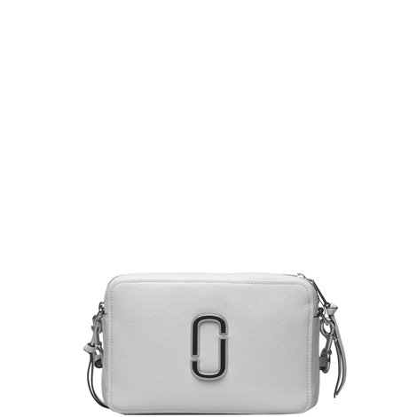 the softshot 27 crossbody bag in white leather