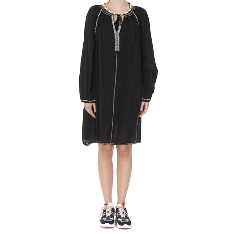 black rocky robe dress