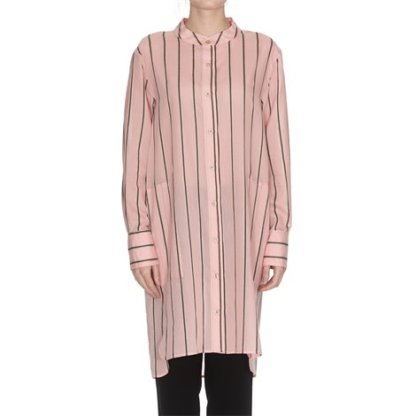 pink yucca robe striped dress
