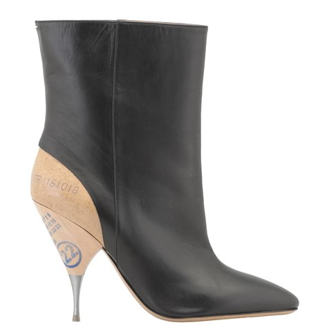 110mm leather booties