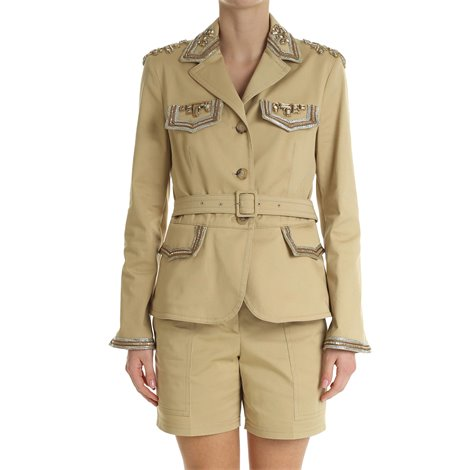 beige canvas safari jacket