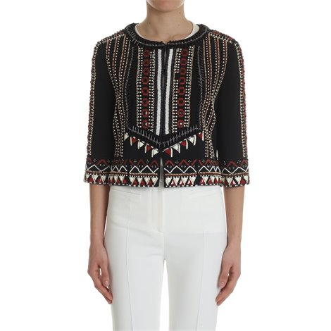 black jacket with ethnic embroidery