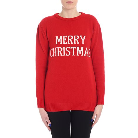 pullover merry christmas rosso