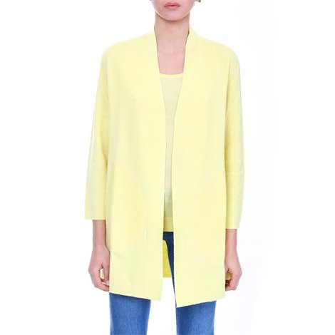 yellow wool cardigan