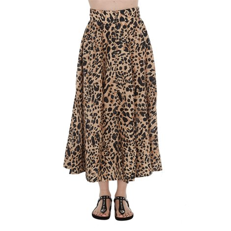 spotted print skirt
