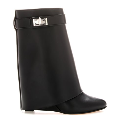 90mm concealed wedge leather booties