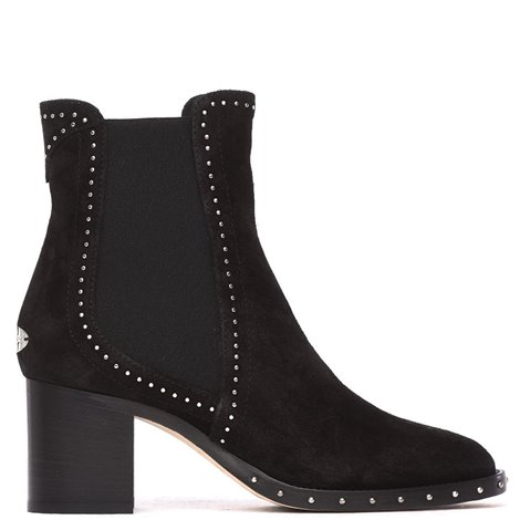 black suede merril ankle boots