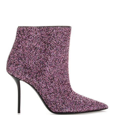 100mm pink glittered booties