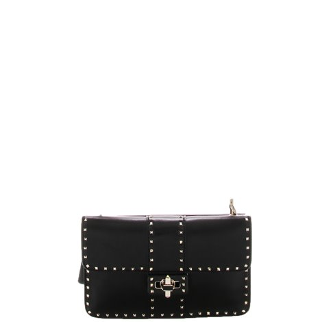 small black crossbodybag with rouches