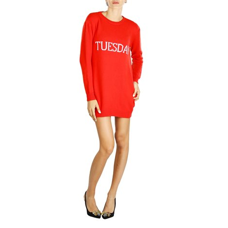 red tuesday embroidered mini dress