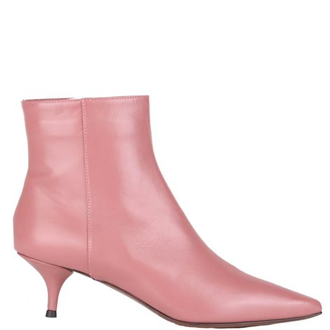 50 mm pink leather booties