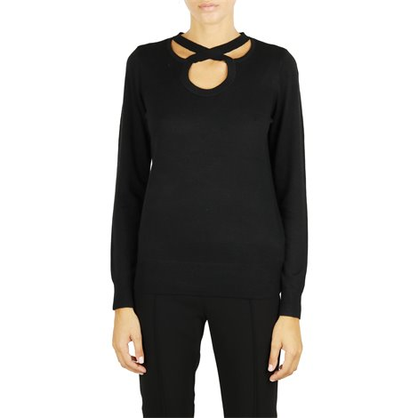 black cashmere blend sweater
