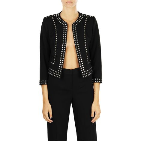 black studded crop jacket